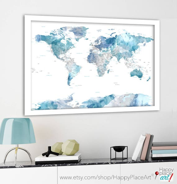 Soft color print highly detailed map cities and state names like this item gumiabroncs Image collections