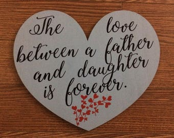 A heart with a saying for a dad or a grandfather