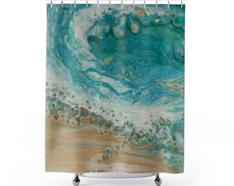 "Shower Curtain ""Wave"""