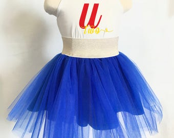 Blue Tutu Skirt - First Birthday Outfit Girl - Tutu Skirts for Toddlers - Tutu Dresses for Girls - Tutu for Girls - Blue Birthday Outfit