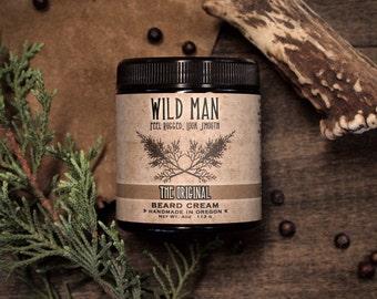 Mens Beard Cream Balm Wild Man THE ORIGINAL Grooming Gift For Him 113g // 4oz