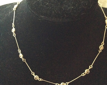 Silver Tone and Bead Necklace [SKU347]