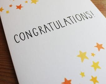 """Congratulations! / 5x7"""" STARSHOWER GREETINGS CARD"""