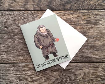 Game of Thrones Hodor Love Greeting Card