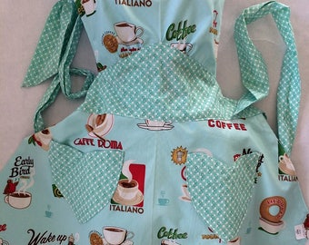 Coffee, Cafe, Caffe Apron - Reversible