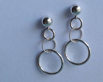 Links, Silver          Sterling Earring Posts   ***NEW ITEM***Special Price