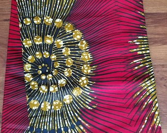 Red African Fabric; Ankara Fabric; African Clothing; African Print; African Headwrap;Ankara Fabric in yards; African Fabric