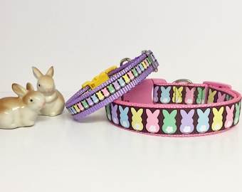 Spring Easter Bunny, pastel, Rabbit , Cottontail, Dog Collar, Puppy , handmade