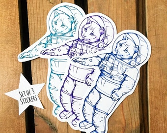 Space Cat Stickers. Cat Stickers. Hipster Stickers. Die Cut Stickers. Space Art. Science Stickers. Funny Stickers. Space Stickers. Kitty