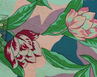 """Vintage floral by John Kaldor 100% cotton fabric  42""""-44"""" wide  Fabricmaker"""