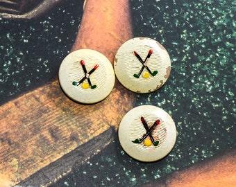 Golf Buttons set of 3