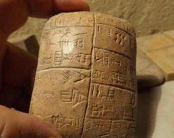 Sumerian cuneiform tablet replica - Hymn of Nisaba / Nina - Goddess of crops & numbers