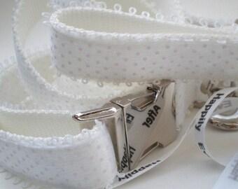 Wedding Dog Collar and Leash Ensemble - Wedding Collar Set - Bridal Collar and Leash Set - All White for the Classic Bride