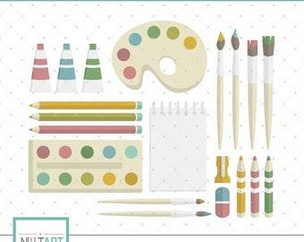 Art clipart, Paint brush clip art, Crayons clip art, Colorful clip art, Paint tools clip art - CL 088