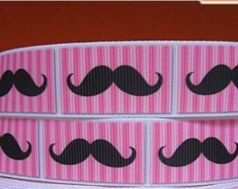 Yardas 3 rosa con cinta de Grosgrain de bigote 7/8