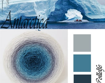Antarctica* Gradient yarn Merino hand dyed - fingering weight