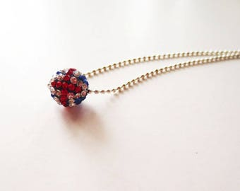 Pave necklace. Rhinestone necklace. Crystal necklace. Disco ball necklace. Dainty necklace. Silver necklace. Delicate necklace. Pave cross.