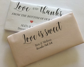 Chocolate bar favours