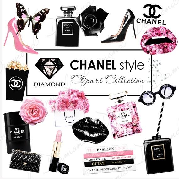Coco Chanel Clipart Fashion Girl Clipart Planner Clipart