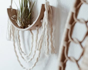 Entwined N.2 Airplant Cradle Wall Art Hanging Stoneware MADE TO ORDER