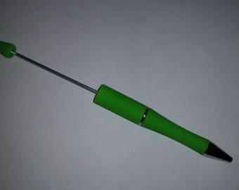 Plastic Beadable Pen-Green