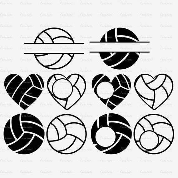 10 Volleyball svg files, volleyball svg Monogram Frames Svg, Sports ...