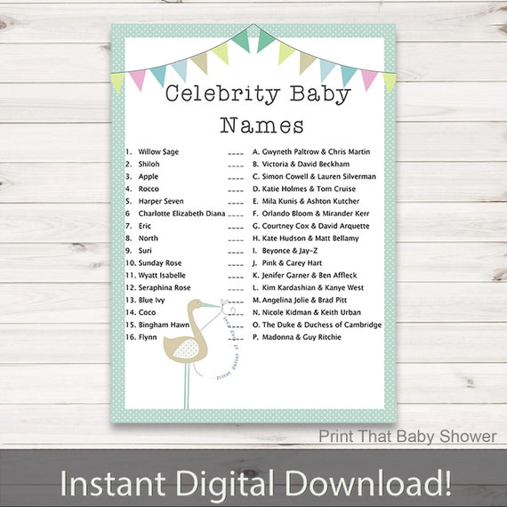 Baby Shower Name Game - Free Printable - Frugal Fanatic