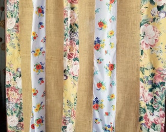 Shabby Chic Shower Curtain Boho room Divider Patchwork burlap rustic fabric floral Gypsy Bohemian Door Curtain HippieWild Hippie Hippy