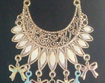"""Headdress style necklace.26"""" chain."""
