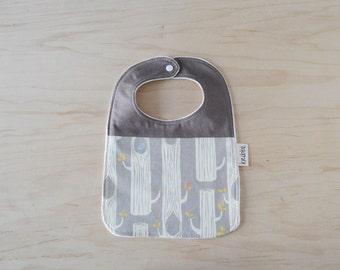 Organic Bib in Birch Tree Grey - Baby Shower Gift