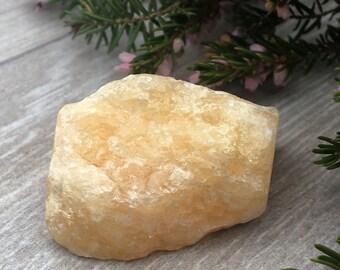 Rough Orange Calcite Crystal
