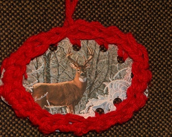 Crochet, Recycled Christmas cards,Ornaments