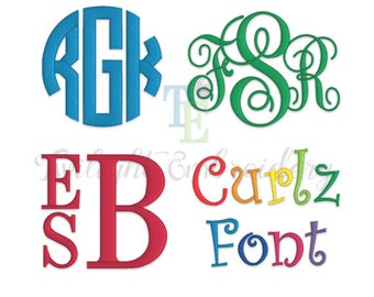 Embroidery Fonts Pack Machine Embroidery Monogram Fonts Embroidery Circle Monogram Embroidery Vine Monogram Embroidery Stacked Monogram 0011
