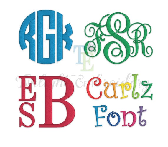 Embroidery fonts pack embroidery monogram fonts for Embroidery office design version 9