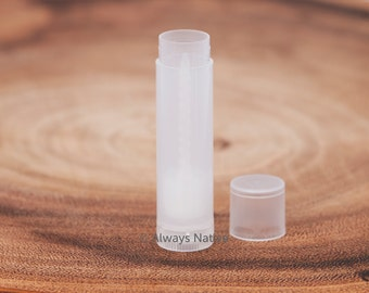 200 Clear LIP BALM Tubes New Empty Transparent - Make Your Own Chapstick lip balm