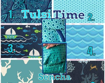 Ergo360 or Lillebaby 3-pc sets. Hdrst Bib/Straight pads. Curved pads upgrade available. TULSI TIME. Choose any 2 fabrics