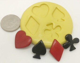 Card Suit Hearts Spades Diamonds and Clubs Mold