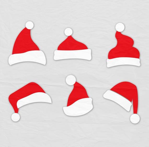 santa hat svg clipart christmas santa claus hat clip art svg rh etsy com santa claus hat clipart png Santa Claus Clip Art