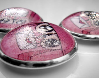 magnet-bubble-owl (pink background)