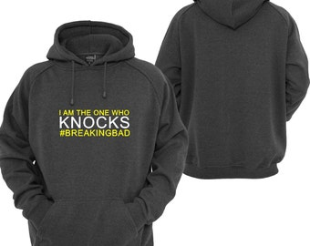 """Breaking Bad Inspired """"I am the one who knocks"""" Hoodie Essential Clothing Gift Present"""