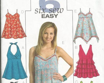 Butterick 4800  Six Sew Easy Top Pattern SZ 6-12