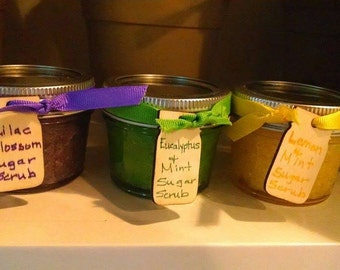 Sugar Scrubs - various colors and scents available