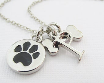 Pet Loves Necklace, Pet Lovers Gift, Personalized Pet Charm Necklace, Pet Lovers Jewelry, New Pet Gift, Pet Charms, Pet Remembrance Necklace