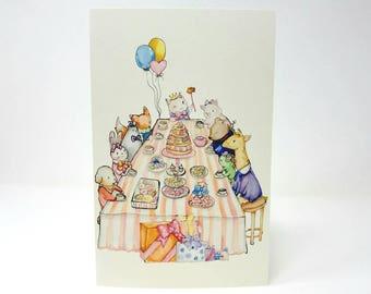 Kitty Birthday Greeting Card