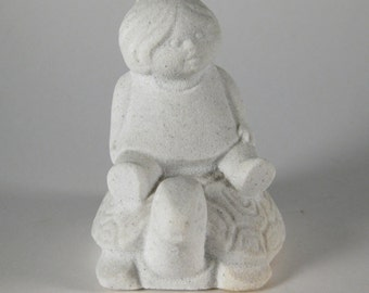 Vintage Child Stone Figurine Belgium