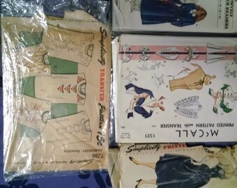 Vintage Sewing patterns- Choose one or more from the group!