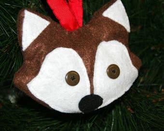 Fox Christmas Gift - Fox Ornament – Fox Ornament felt – Forest animal ornaments  – Christmas Ornament – Forest animal Gift – Tree Decoration