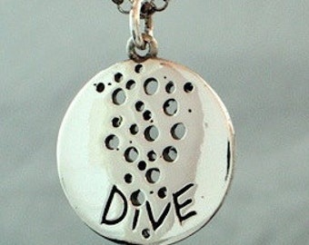 Scuba Diving Pendant 925 Sterling SilverDiver Necklace  Design for divers by Zulasurfing  Now 40% OFF