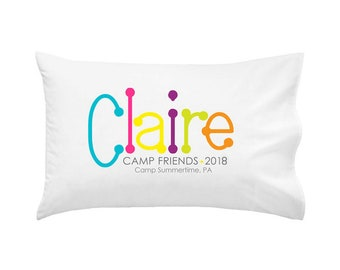 PERSONALIZED Camp Autograph Camp Pillowcase | Autograph Summer Camp Pillowcase | Sleepaway Camp Pillow Cover | Camp Pillow |Autograph Pillow
