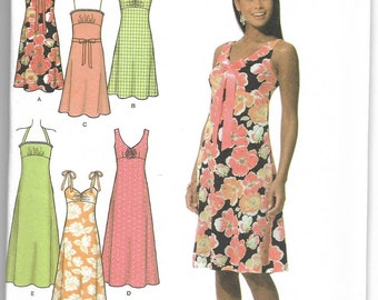 Simplicity | 4630 | Misses' / Miss Petite Dress in Two Lengths with Bodice and Trim Variations | Uncut and Factory Folded